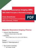 MRI Lecture NBE E4000 Zevenhoven