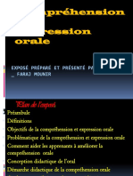 comprehension et expression orale
