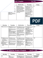 Calendar Lesson Budget by Quarter English
