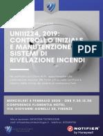 Norme antincendio, incontro 4 febbraio 2020 Firenze