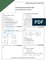 Cqb Math Jee Main 2019 Matrices and Determinants
