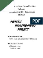 physics project by Naman vyas