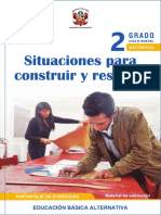 Situaciones para construir y resolver Segundo grado. Ciclo inicial Educación Básica Alternativa. Portafolio de evidencias - Matemática