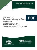 ANSI.AHRI Standard 490 (I-P) - 2011