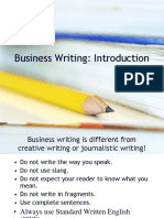 business writing I.ppt