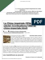La Chine impériale (XIVe-XIXe siècle)