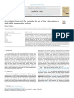 An evaluative framework for examining the use of land value capture to fund public transportation project