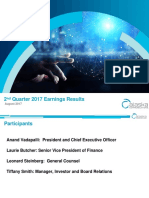 2nd Quarter 2017 Earning Results - August 2017