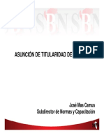 SBN - Asunción de Titularidad