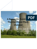A Report on Training at Thermal Power Plant