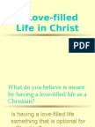 A Love-Filled Life in Christ