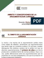 (PPT) Gloria Noriega Monar - Ambito y concepciones de la argumentacion juridica