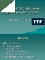 Foti Academic Job Interview 3-19-09