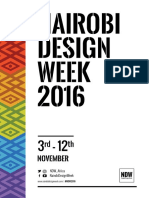 NAIROBI DESIGN WEEK 2016 | Festival Guide | #NDW2016