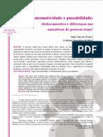 Cisnormatividade e passabilidade - deslocamentos e diferenças nas narrativas de pessoas trans.pdf
