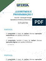 Aula 03 - Operadores Aritméticos, Relacionais, Lógicos Portugol.pdf