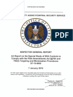 FISA abuses uncovered by Dr. Henry Ellard, NSA's Inspector Genereal, 34-page report Jan 7th 2016
