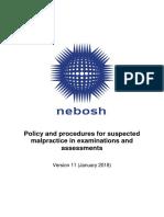 Nebosh Policy
