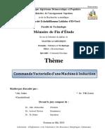 Commande Vectorielle d'Une Machine à Induction