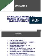 UNIDAD 3 LOS RECURSOS MINEROS Y EL PROCESO DE EVALUACIÓN DE INVERSIONES EN MINERÍA (1).ppt
