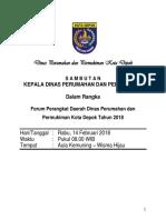 SAMBUTAN FORUM PD KEPALA DINAS 2018