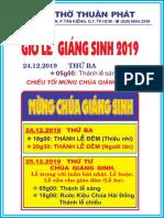 Gx.THUẬN PHÁT - GIỜ LỄ GIÁNG SINH 2019