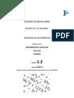 PROBLEMARIO MATE I CLAVE 104 Algebra EXTENDIDO