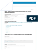 MDS Oral surgery question papers