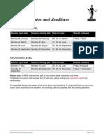 2020 Exam Dates and Deadlines