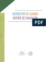 Instructivo Llenado Reporte de Evaluacion