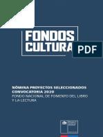 Resultados Fondo Libro 2020