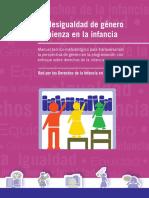 Manual. La Desigualdad de Género Comienza en La Infancia