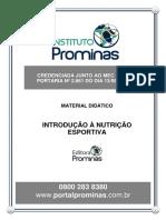 Nutricao Esportiva - Introducao a Nutricao Esportiva
