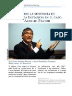 Comentario jurisprudencial a la sentencia de segunda instancia en el caso Aurelio Pastor Valdivieso