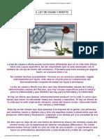Leyes Naturales _ Ley de Causa y Efecto