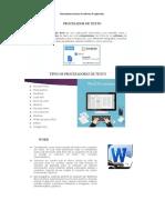 Conceptos Básicos y Usos de Una Hoja de Cálculo Word y Power