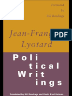 Lyotard - Political_writings