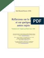 Keynes Réflexions sur le franc  et sur quelques  autres sujets