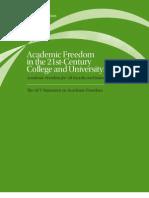 Academic Freedom Statement