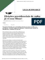 Eleições Presidenciais de 1989