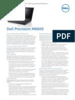Dell Precision M6600 Spec Sheet Es