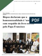 Bispos declaram que a homossexualidade é 'normal' com respaldo do livro escrito pelo Papa Francisco - Instituto Teológico Gamaliel.pdf