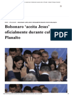 Bolsonaro 'aceita Jesus' oficialmente durante culto no Planalto - Instituto Teológico Gamaliel.pdf