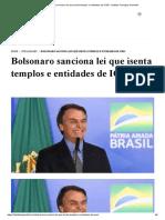 Bolsonaro sanciona lei que isenta templos e entidades de ICMS - Instituto Teológico Gamaliel.pdf