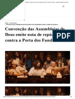 Convenção das Assembleias de Deus emite nota de repúdio contra a Porta dos Fundos - Instituto Teológico Gamaliel.pdf