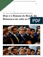 Deus é o Homem do Brasil, diz Bolsonaro em culto no Planalto - Instituto Teológico Gamaliel.pdf