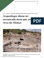 Arqueólogos dizem ter encontrado mesa que sustentou a Arca da Aliança - Instituto Teológico Gamaliel.pdf