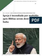 Igreja é incendiada por multidão após Bíblias serem destruídas, na Índia - Instituto Teológico Gamaliel.pdf
