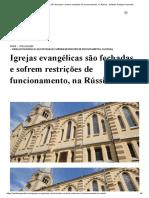 Igrejas evangélicas são fechadas e sofrem restrições de funcionamento, na Rússia - Instituto Teológico Gamaliel.pdf