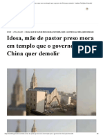 Idosa, mãe de pastor preso mora em templo que o governo da China quer demolir - Instituto Teológico Gamaliel.pdf